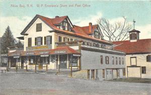 Alton Bay NH W. F. Emerson's Store & Post Office, in 1912 Postcard