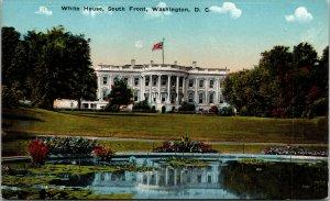 Vtg White House South Front Washington DC Postcard