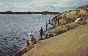 Char Fishing on Sylvia Grinnell River near Frobisher Bay , N.W.T. , Canada , ...