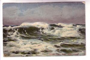 After the Storm, Revere Beach, Massachusetts, BR Co, Flag Cancel
