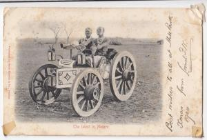 South Africa; The Latest in Motors Comic PPC, c 1903 'The Zulu Motor'