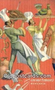 Linen, Zimmerman's Hungaria Restaurant, New York City, NYC Postcard Post Card...