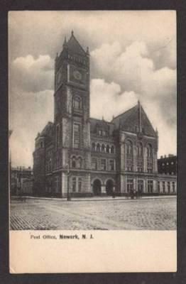 NJ View of Post Office NEWARK NEW JERSEY Postcard PC