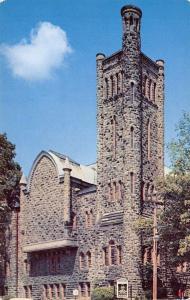 Jamestown New York~First Baptist Church~Tower Close Up~1950s Postcard