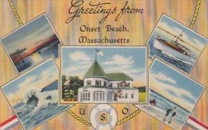 Massachusetts Greetings From Onset Beach