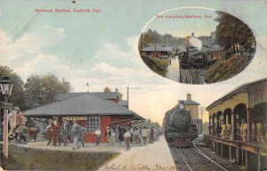 Seaford Delaware Railroad Station and Junction Vintage Postcard AA5563