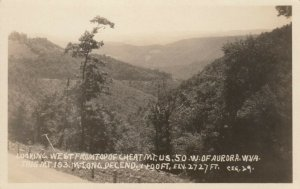 RP: AURORA, West Virginia , 20-40s; Looking West from top of Cheat Mt.