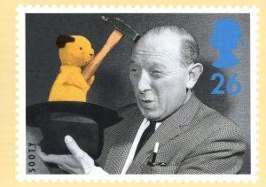 Sooty & Sweep Matthew Corbett TV Show Royal Mail Postcard