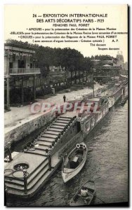 Old Postcard Exposition Internationale des Arts Decoratifs Paris Barges 1925 ...