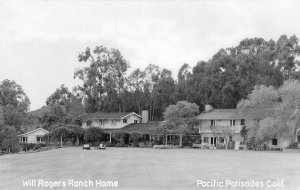 RPPC Will Rogers Ranch Home, Pacific Palisades, CA c1950s Vintage Postcard