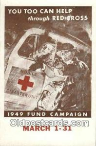 1949 Fund Campaine Red Cross Postcard Postcards  1949 Fund Campaine