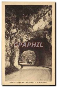 Old Postcard Route Pontarlier Mouthiers La Roche breakthrough