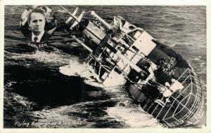 Flying Enterprise 9 Jan 1952 Dutch Sinking Ship Real Photo Shipwreck 01.1