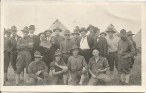 Antique 1914 - 1918 Real Photo Postcard RPPC World War 1 Military Camp -Army WWI