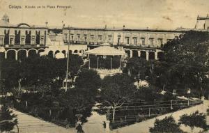 mexico, CELAYA, Guanajuato, Kiosko en la Plaza Principal (1910s)