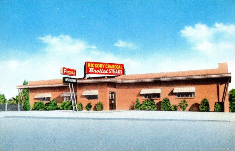 Oklahoma Tulsa Powers Restaurant Hickory Charcoal Broiled Steaks