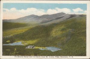 Presidential Range Crawford's Mt. Avalon White Mountains New Hampshire