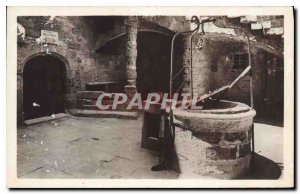 Old Postcard Chateau d'If Marseille the courtyard of the historic Dungeon the...