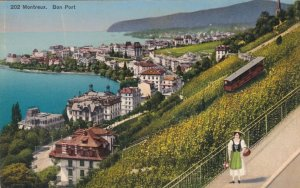 Switzerland Montreux View Of The Port sk3698