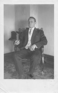 F9/ Englewood Ohio RPPC Postcard 1913 Well-Dressed Man Top Hat