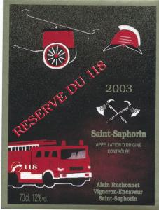 Switzerland Saint-Saphorin - Fire Truck Reserve Du 118 - Ephemera Sticker