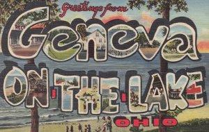 Large Letter GENEVA ON THE LAKE, Ohio, 30-40s