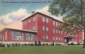 North Carolina Hendersonville Patton Memorial Hospital Albertype