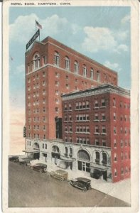 Hartford Connecticut Hotel Bond Grand Historical Building Vintage Postcard