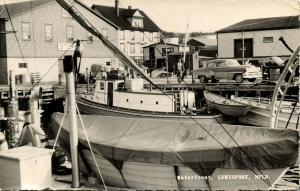 canada, LEWISPORT, Newfoundland, Waterfront, Car (1958) RPPC Postcard