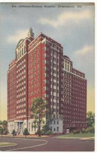 Jefferson-Hillman Hospital, Birmingham, Alabama, 1950 used linen Postcard
