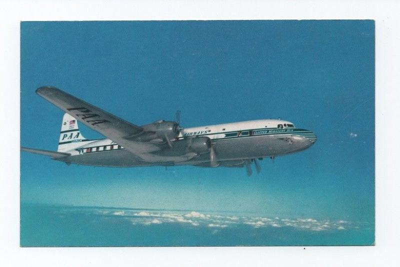 Pc 50s AIRLINE ISSUED PAN AMERICAN PAN AM CLIPPER midnight sun DC-6 AIRPLANE
