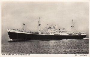 RP: Pacific Steam Navigation Co S.S. FLAMENCO , 1940s