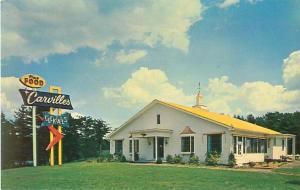 Union Connecticut Carvilles Restaurant Rt 15, Exit 106 Hwy 84 1960s  Postcard