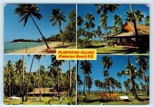 BRAMSTON BEACH, NQ, Australia ~ PLANTATION VILLAGE Multiview  c1960s  Postcard