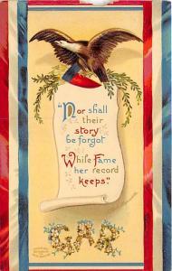 Washington's Birthday, Ellen H Clapsaddle Patriotic Unused paper chip top edge