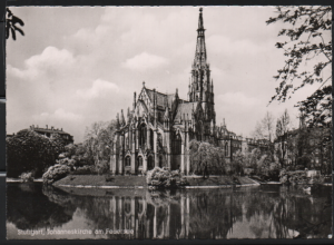 Post Card Stuttgart Germany. Johanneskirche am Feuersee