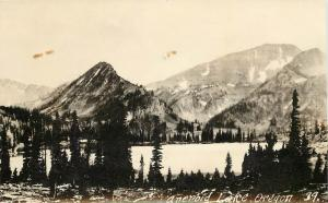 1925-1942 RPPC Postcard; Aneroid Lake OR 39 Wallowa County Unposted