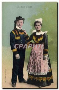 Old Postcard Folklore Maries Scaer Marriage