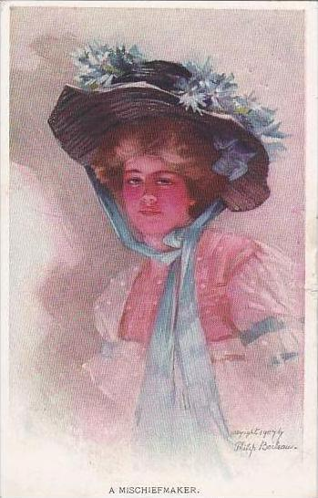 Philip Boileau Beautiful Lady With Hat A Mischiefmaker 1908