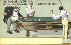 Billiard Factory Morgenthaler & Cie., Iris Pastel Chalk (1910s) Advertising