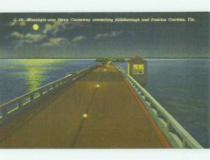 Unused Linen BRIDGE SCENE Tampa Florida FL HQ9860