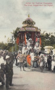 Indian Vel Festival Procession , The Silver Juggernaut Car , CEYLON , 00-10s