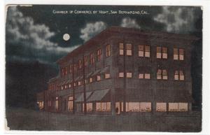 Chamber of Commerce by Night San Bernardino California 1910c postcard