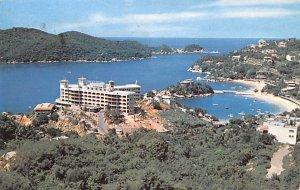 Panoramic de los Playas Caleta y Caletilla Acapulco Mexico Tarjeta Postal Pos...