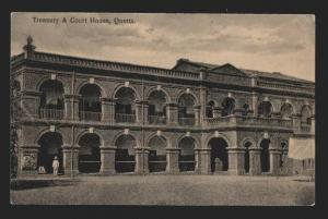116907 Pakistan QUETTA Treasury & Court House Vintage postcard
