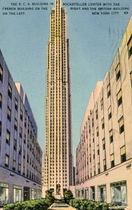 NY - New York City. Rockefeller Center, RCA Building, French Building, Britis...