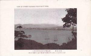 View Of Street Fukucka From West Park, Japan, 1900-1910s
