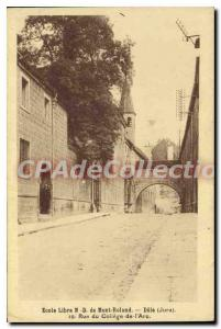 Old Postcard Dole free school Our Lady of Mount Roland Rue Du College From th...