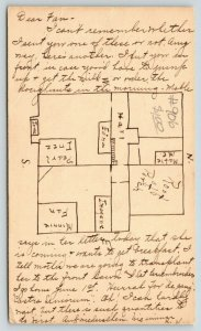 Stanley Wisconsin~Note About Family and Mother~Scale Drawn of House~1907