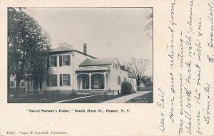 Homer Cortland County NY New York David Harum's Home on South Main Street pm1905